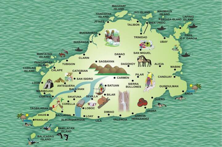 bohol map