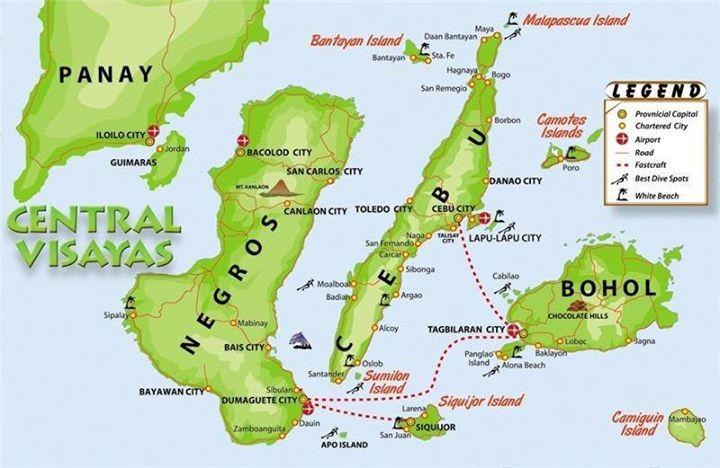 mapa visayas